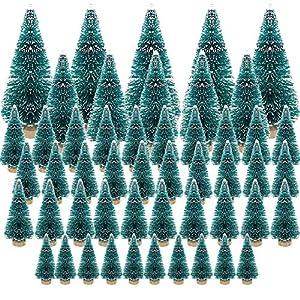 50 Pezzi Alberi di Natale in Miniatura Alberi con Neve Natalizie Ornamenti Alberi di Sisal Artificiali Mini Sisal Neve Mini Arberi di Natale Artificiali Decorazione Tavolo Casa 3 spesavip