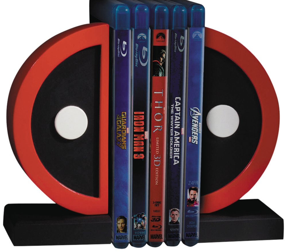 Entertainment Earth Deadpool Logo Bookends
