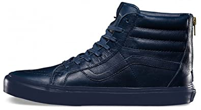 6d9fe6517f6a7a Image Unavailable. Image not available for. Colour  Vans Men s SK8-Hi Zip CA  Technical Skateboarding Shoes Blue Boot Leather ...