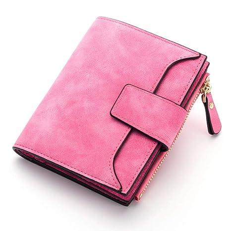 nuevo producto e32af 08996 WYHFS Billetera para Mujer Cerrojo Monedero pequeño y ...