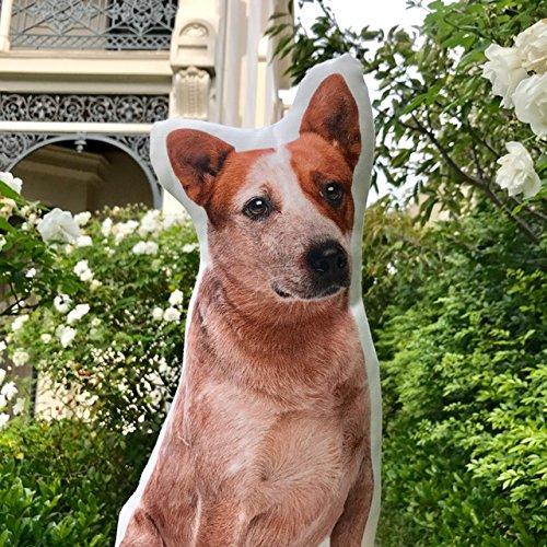 Cushion Co - Red Heeler Dog Shaped Pillow 16'' x 12'' by Cushion Co (Image #3)