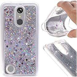Urberry ZTE Zmax Pro Case, ZTE Carry Case, Floating Bling Glitter Sparkle Case for ZTE ZMAX Pro/Carry Z981 (Silver)