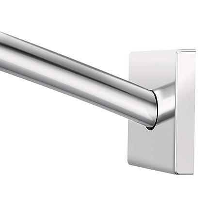 Adjustable Shower Curtain Rod.Moen Csr2168ch Triva Adjustable Curved Shower Curtain Rod Chrome