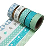 K-LIMIT 5 Set Washi Tape rotoli di nastro adesivo masking tape scrapbooking, DIY 9811