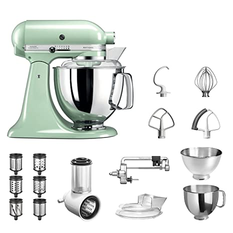 de style élégant élégant et gracieux magasin en ligne Robot da Cucina KitchenAid Artisan,5KSM175PS, pacchetto ...
