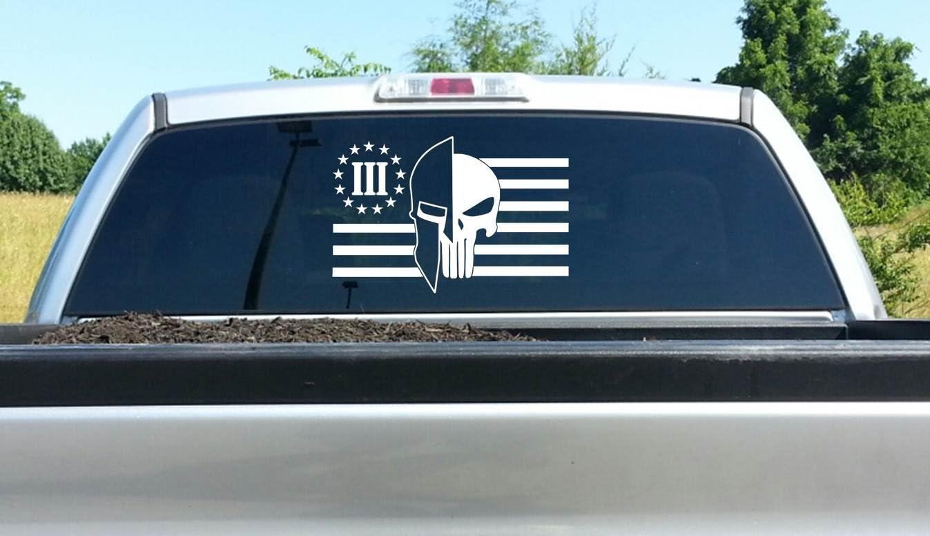 Skull 3 Percent Car or Truck Window Laptop Decal Sticker