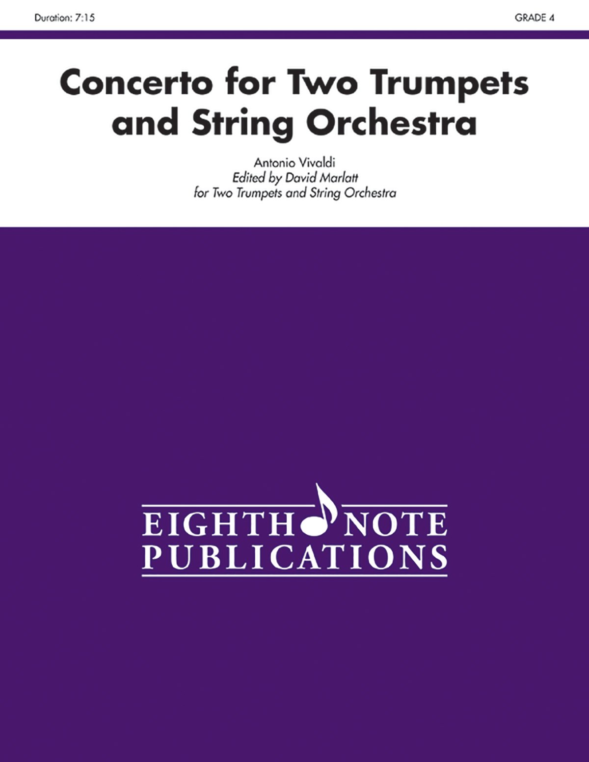 Concerto for Two Trumpets and Strings (Conductor Score & Parts) (Eighth Note Publications) PDF