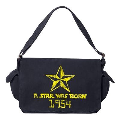 Tenacitee A Star Was Born 1954 Brushed Canvas Messenger Bag