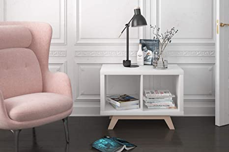 IKEA Kallax - Estante para estantería (madera de haya, 2 estantes, patas inclinadas, para aparador bajo)