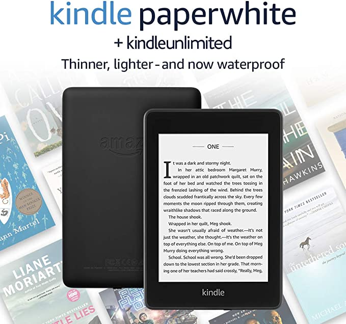 Kindle Paperwhite  Now Waterproof with 2x the Storage  AdSupported Kindle Unlimited with autorenewal at Kapruka Online for specialGifts