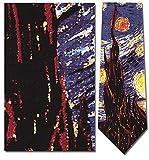 Mens 100% Silk Van Gogh Starry Nights Tie Necktie