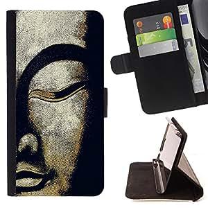 Dragon Case- Caja de la carpeta del caso en folio de cuero del tir¨®n de la cubierta protectora Shell FOR Sony Xperia Z3 D6653- Buddha
