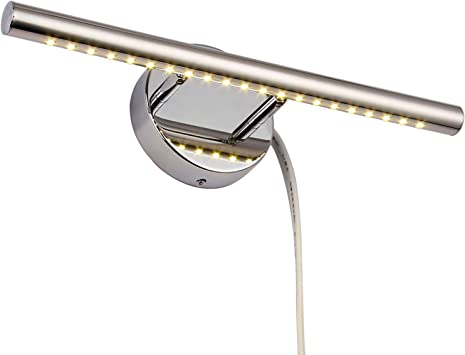 Letsun Bathroom Led Vanity Light 15 7 Inch Modern Led Bathroom Vanity Light Fixtures Over Mirror Bathroom Wall Mounted Plug In Light 3000k Warm White Make Up Mirror Front Lamp With 180 Rotation