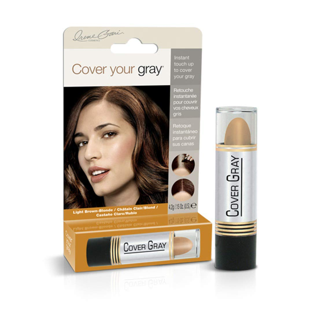 Cover Your Gray Hair Color Touch-up Stick - Light Brown/Blonde (Pack of 6)