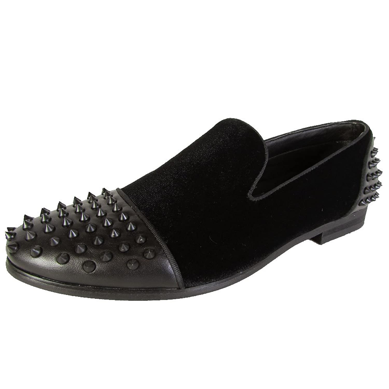 65cae1fb20a3 Steve Madden Mens P-Dashh Velvet Studded Slip On Loafer Shoes 60%OFF ...