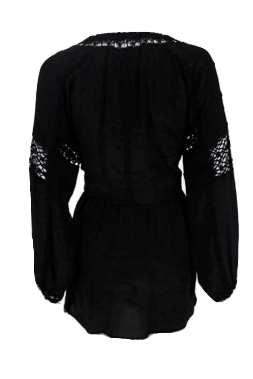 3ee7d9396c3dd Gold Hawk Silk Janice Lace Knit Long Sleeve Size Medium Dress  Amazon.in   Clothing   Accessories