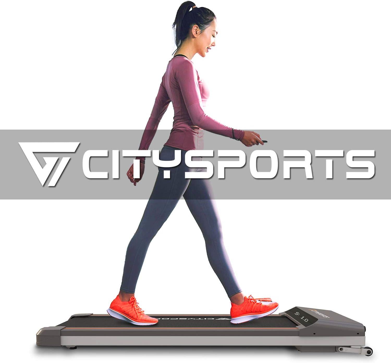 CITYSPORTS Cinta de Correr Caminar Plegable, Motor de 500W, Velocidad Ajustable, Pantalla LCD, Cinta de Correr Plegable para el hogar y la Oficina