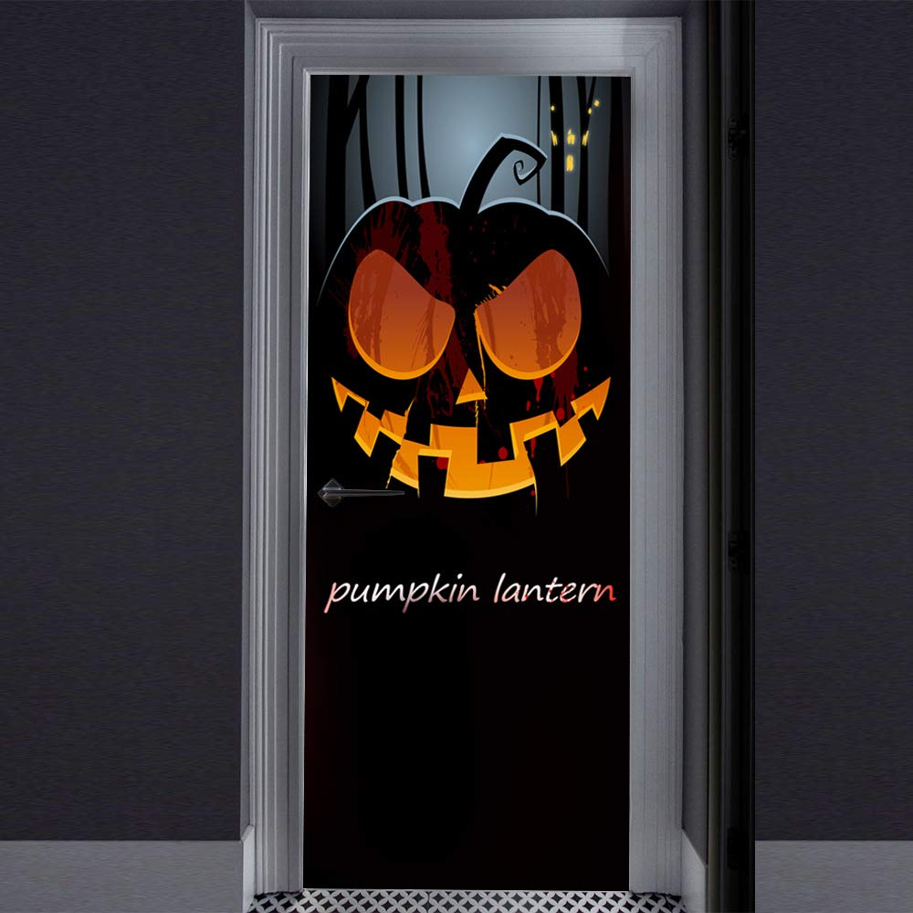 Halloween Sticker 3D Creative Door Sticker Halloween Haunted House Decorative Door Sticker Window Door Cover Sticker for Halloween Decoration,J by WWWO
