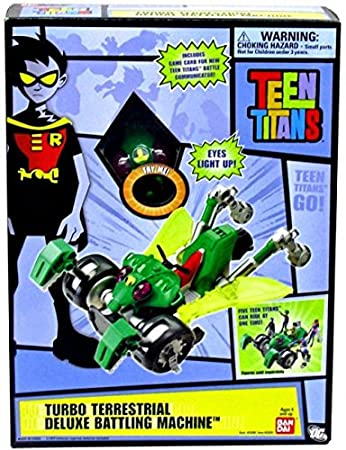 Amazon.com: Teen Titans Deluxe Battling Machine Toy Turbo Terrestrial: Toys & Games