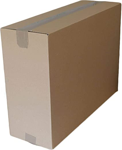 Caja de embalaje rectangular de cartón múltiplos de 21x8x16