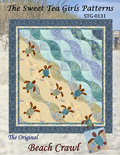 Quilt Beach Patterns - Original Beach Crawl Quilt Pattern by The Sweet Tea Girls - 2 sizes - STG-0131 Turtle
