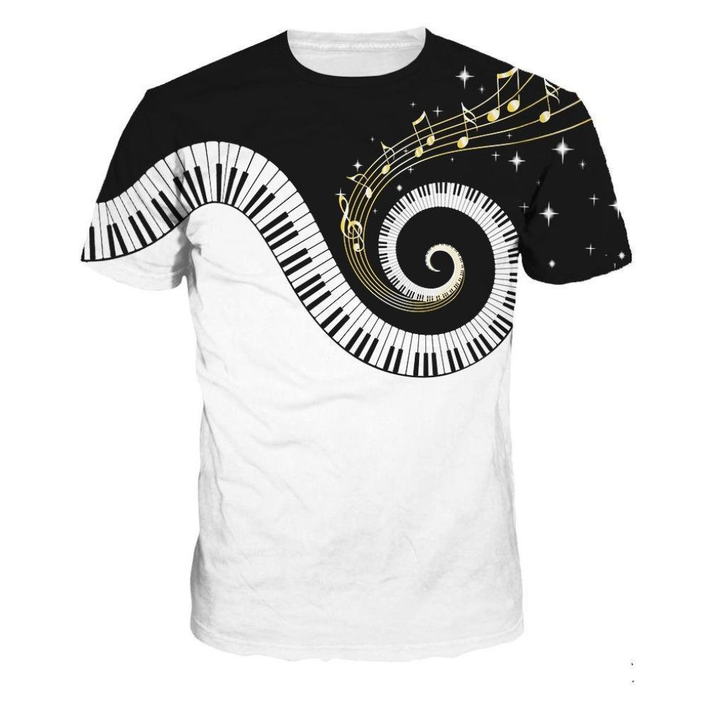 Amazon.com: Realdo Music Piano - Camiseta de manga corta ...