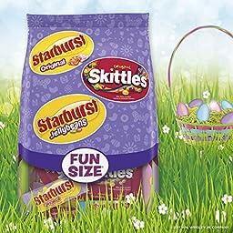 Skittles Original, Starburst Original, and Starburst Original Jellybeans Candy Easter Variety Bag, 20.4 Ounce Stand Up Bag