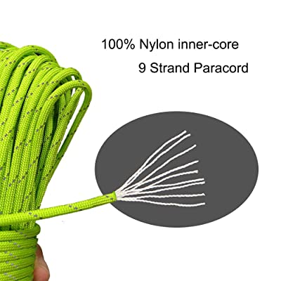 Black Nylon Paracord 550 Type III for Crafts Hunting Camping Bracelets