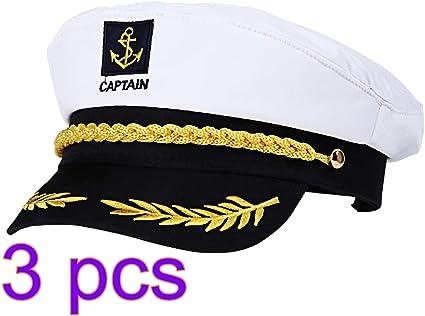 Adult Navy Marine Cap Captain/'s Yacht Sailors Hat Adjustable Captain/'s Hat