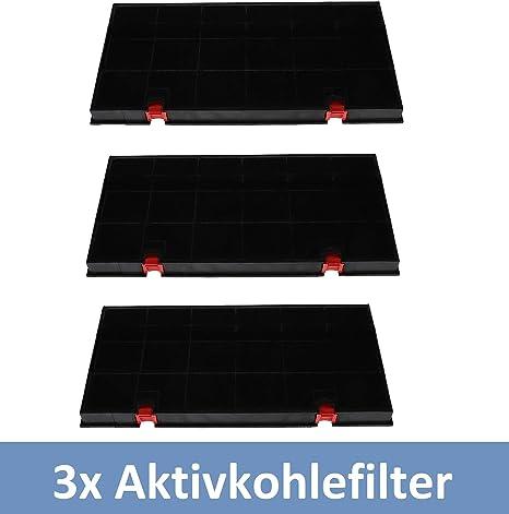 3x filtro de carbón activado Campana extractora para AEG Electrolux 50290644009 Elica 150 Bosch Siemens Neff 460450 Type150: Amazon.es: Grandes electrodomésticos