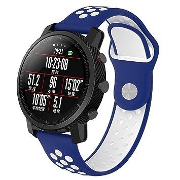 Correa de reloj Xiaomi Huami Amazfit, XIHAMA de silicona Ajuste rápido Pulsera de repuesto para pulsera deportiva Fitness Smart Watch 22mm: Amazon.es: ...
