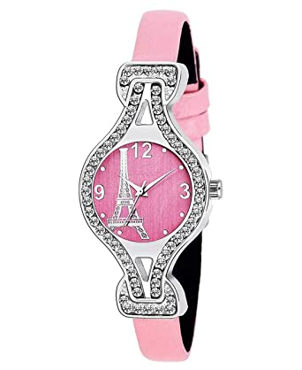 c9c911ee7 Buy NiyatiFab Eiffel Tower Pink Dial Design and Pink Belt Bracele New  Fashion Watch for Girls Watch - for Girls Online at Low Prices in India -  Amazon.in