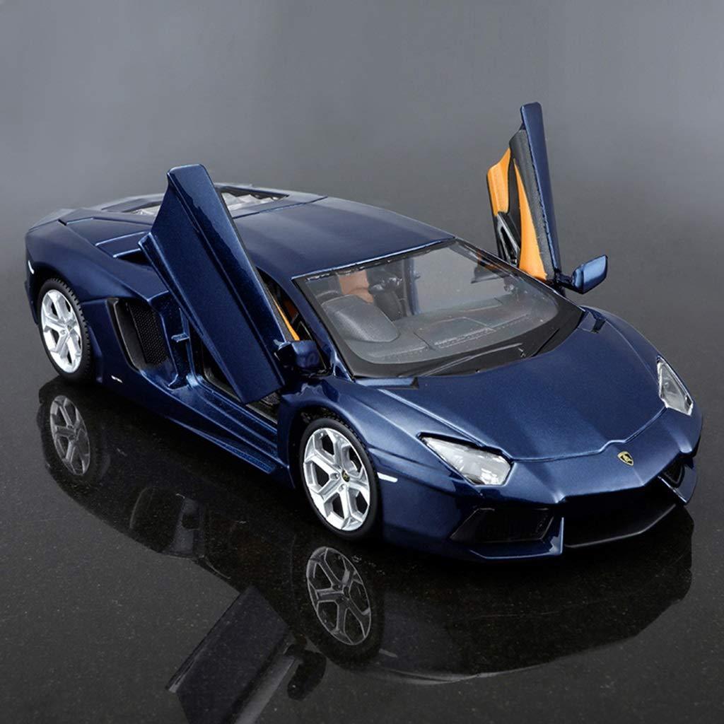 ZDNALS 1 24 Car Model Alloy Sports Car Model Ornament Crafts Collectibles  color  bluee 18.1CM × 8.1CM × 4.8CM Car model