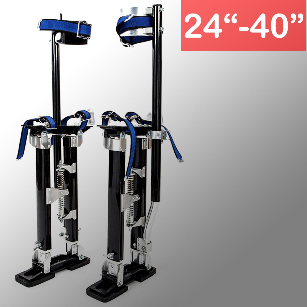 FCH Drywall Stilts Aluminum Tool Stilts Height Adjustable Lifts for Taping Painting Finishing Hanging Christams Lights Portable Lifting Tool