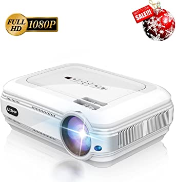 LESHP - Proyector Full HD Video Proyector del LCD 720P Alto Brillo ...