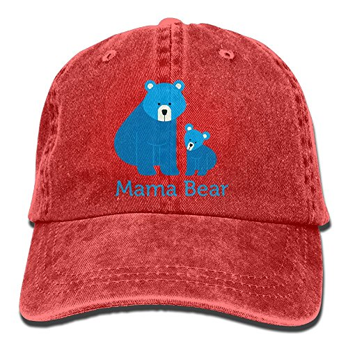 Mars Sight Unisex Washed Retro Denim Hats Mama Bear Truck Driver Hat Cool Adjustable Baseball Cap