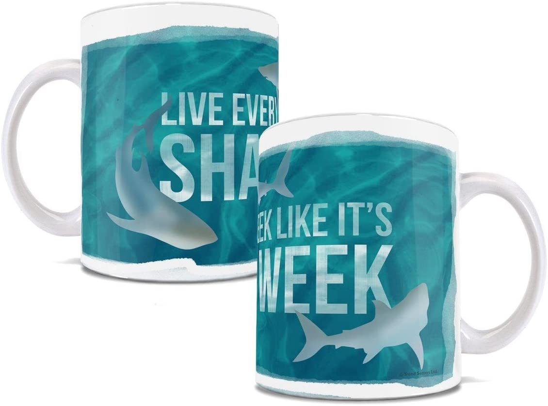 Shark Mug – Live Every Week Like it's Week of the Shark – Ceramic Mug – Perfect for gifting or collecting – by Trend Setters Ltd.