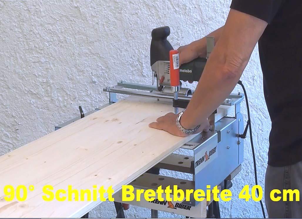 Sierra de calar mesa 014h como sierra ingletadora + Bosch Festool ...