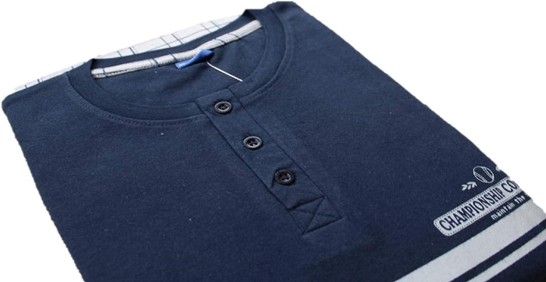 XXL XL Interlook L Manica Lunga e Pantalone Lungo Misure: M Irge MI575 Blu navy//Grigio, M Pigiama Uomo Caldo Cotone