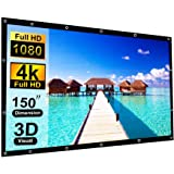 150 Inch Projection Screen Blibro 16:9 HD Foldable Anti-Crease Video Screen Portable Indoor Outdoor Projector Movies Screen f
