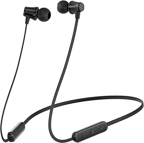 SoundPEATS Bluetooth Headphones Wireless Earbuds 4.1 Magnetic Bluetooth Earphones Lightweight Earbuds with Mic for in-Ear Earphones Sports 8 Hours Play Time, Noise Cancelling, Sweatproof Upgrated