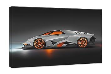 Lamborghini Egoista Concept 3 24X36 Gallery Wrapped 1.5u0026quot; Depth Canvas  Print