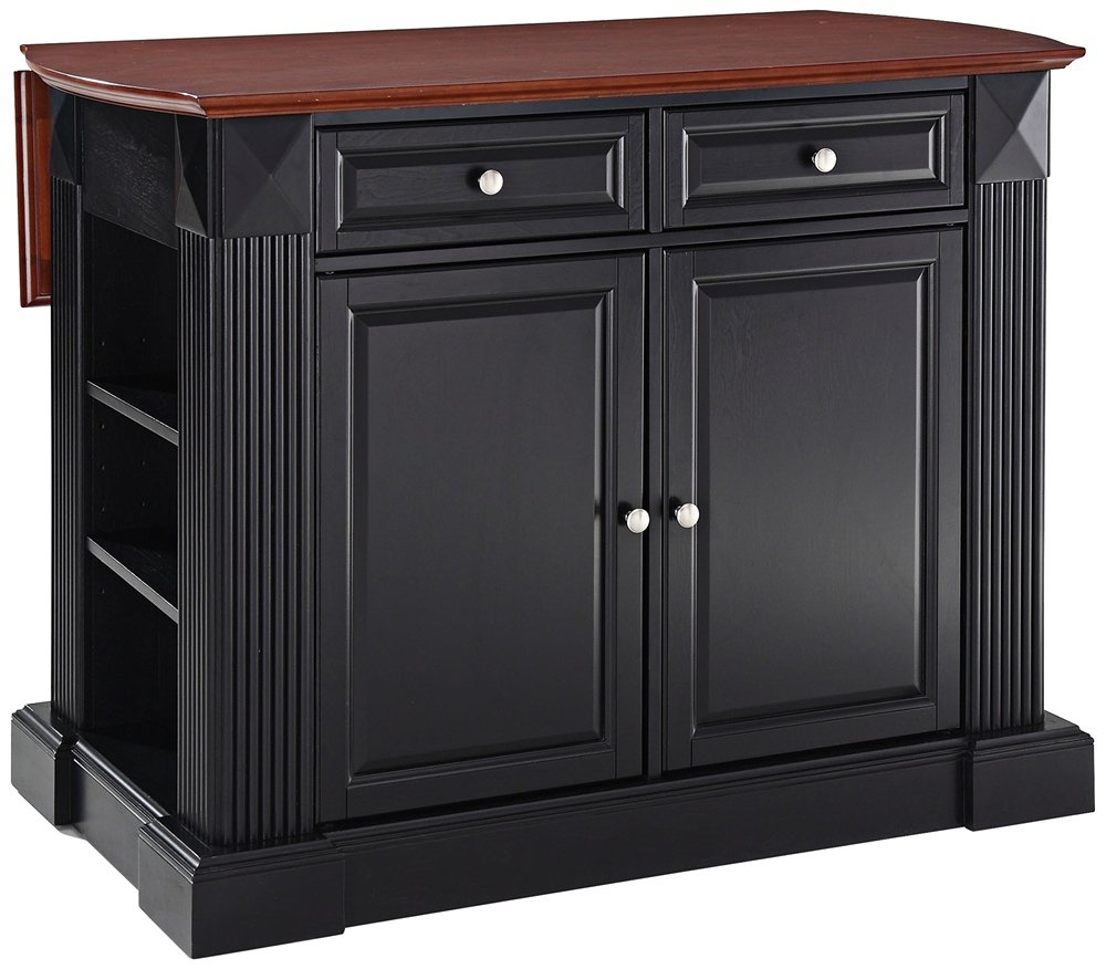Amazon Com Crosley Furniture Drop Leaf Kitchen Island Breakfast Bar Classic Cherry Kitchen Islands Carts