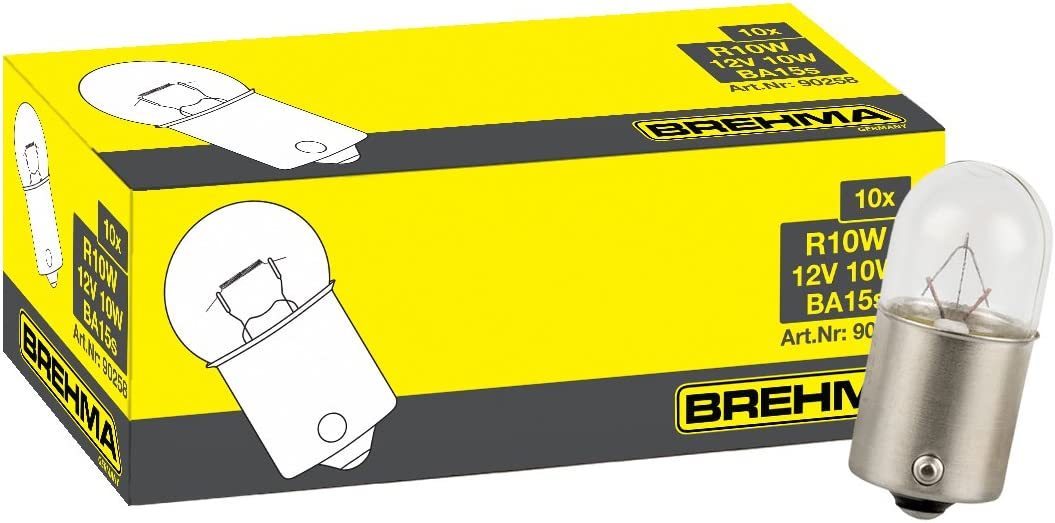 Brehma 10x R10w 12v Kugellampe Ba15s 12 Volt 10 Watt Auto