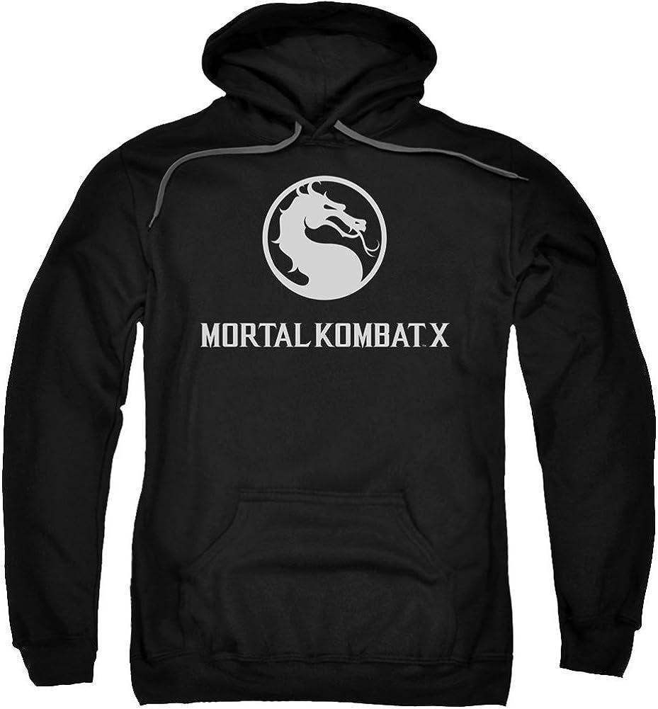 Mortal Kombat X Horizontal Logo Adult Work Shirt