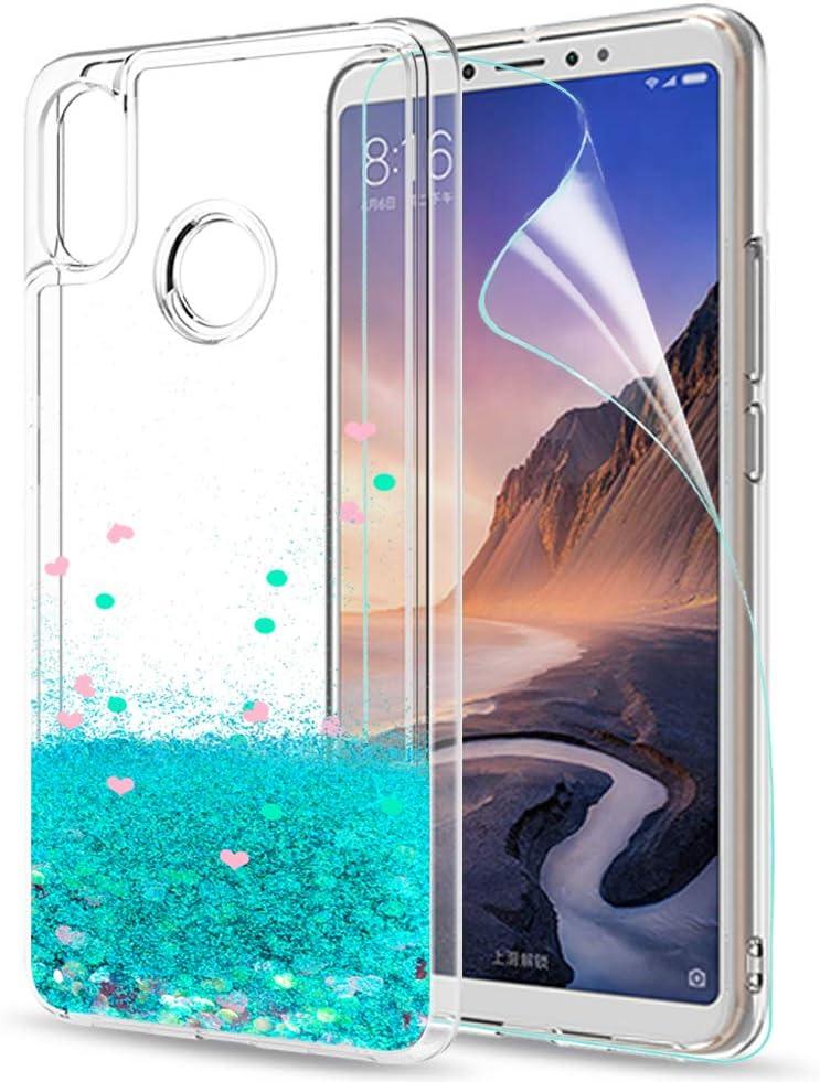 LeYi Funda Xiaomi Mi MAX 3 Funda Purpurina Carcasa con HD ...