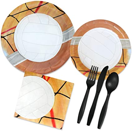 Forks 96 Piece Set Spoons Napkins FAKKOS Design Christmas Ornament Party Supplies for 16 Guests Paper Plates
