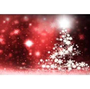 OERJU 3x2m Navidad Fondo Árbol de Navidad Modelo Copo de ...