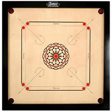 Surco Ellora Carrom Board With Coins And Striker Board Games at amazon