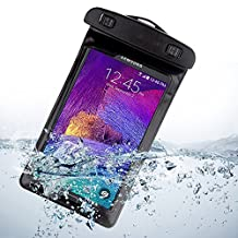 Universal Waterproof Case for Samsung Galaxy Note 4 / Note Edge / S6 / S6 Edge / S5 Active / Sport / HTC One M9 32GB / 64GB (AT&T) (Black)